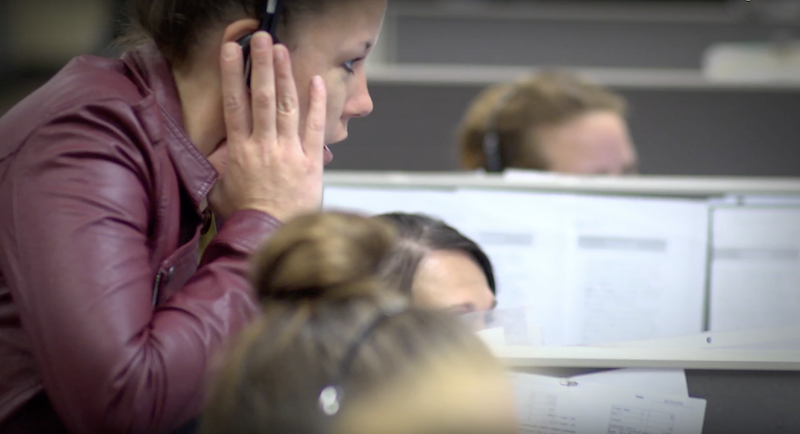 An image of a Gold Mountain Communications contact center.