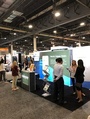 The DailyPay booth at HR Tech Conference 2018.