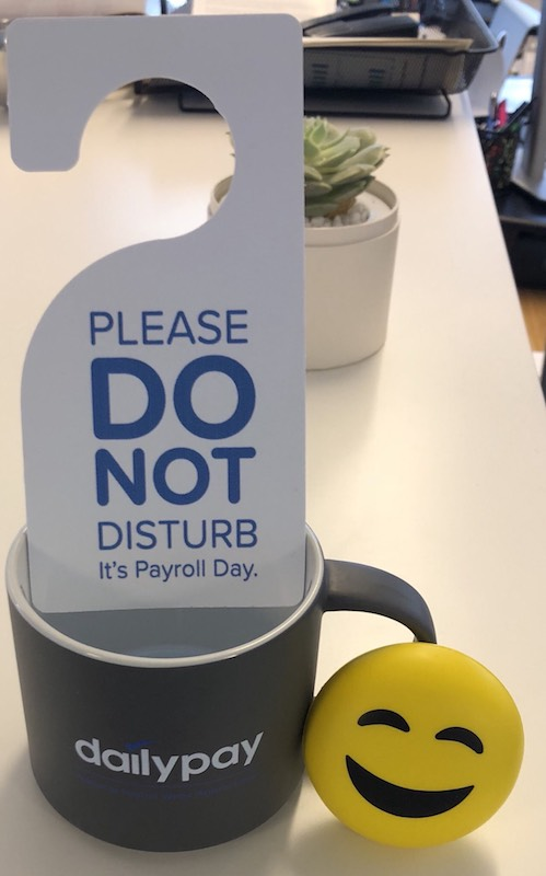 Get a free coffee mug from DailyPay for National Payroll Week.