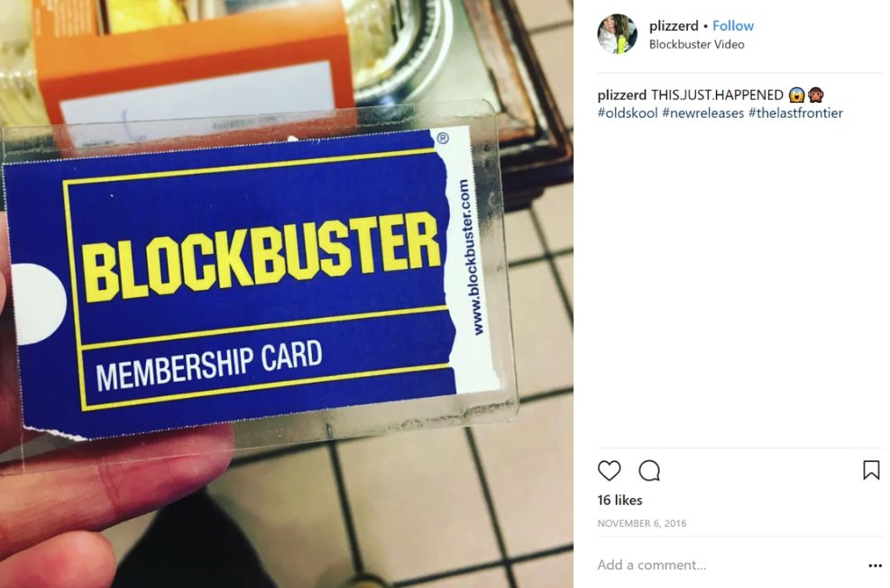 An image of an old Blockbuster card. In 2010, Blockbuster failed to respond to market trends being driven by Netflix.