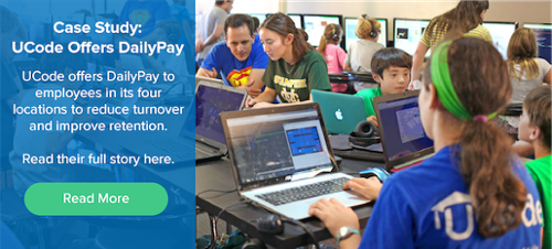 UCode offers DailyPay as an on-demand payment solution to its employees.